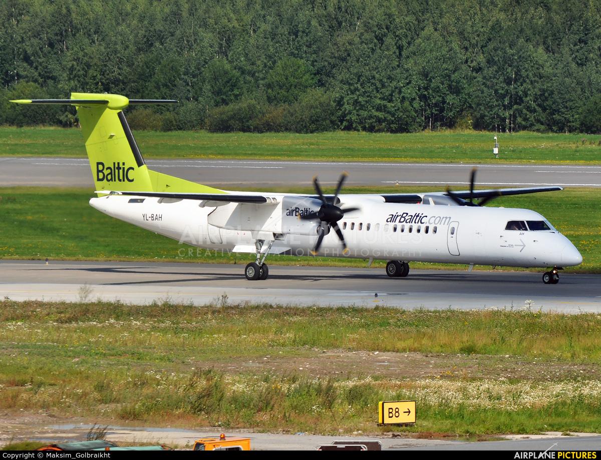 Air Baltic YL-BAH aircraft at St. Petersburg - Pulkovo