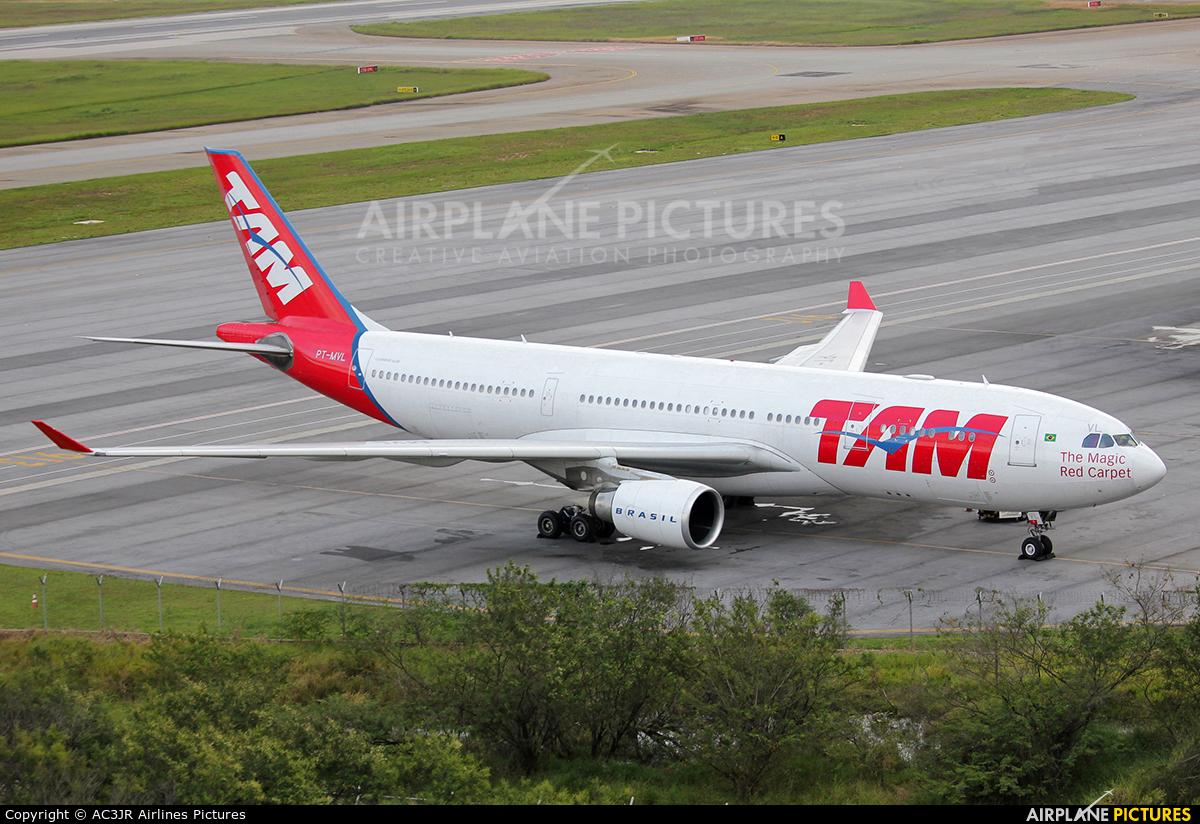 TAM PT-MVL aircraft at São Paulo - Guarulhos