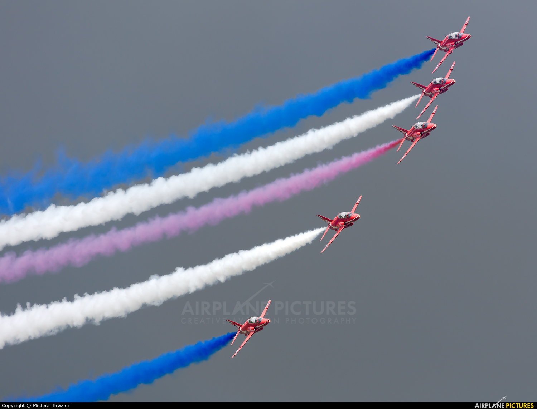 "Royal Air Force ""Red Arrows"" XX323 aircraft at Fairford"
