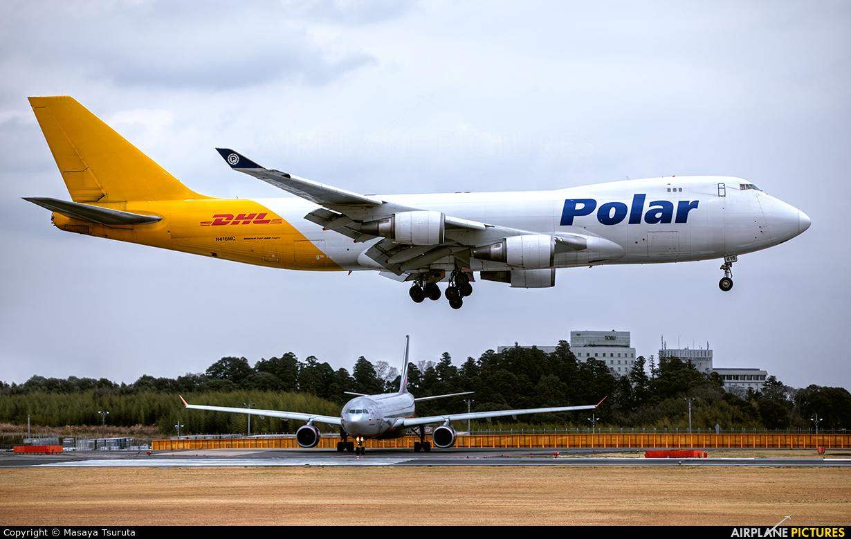 Polar Air Cargo N416MC aircraft at Tokyo - Narita Intl