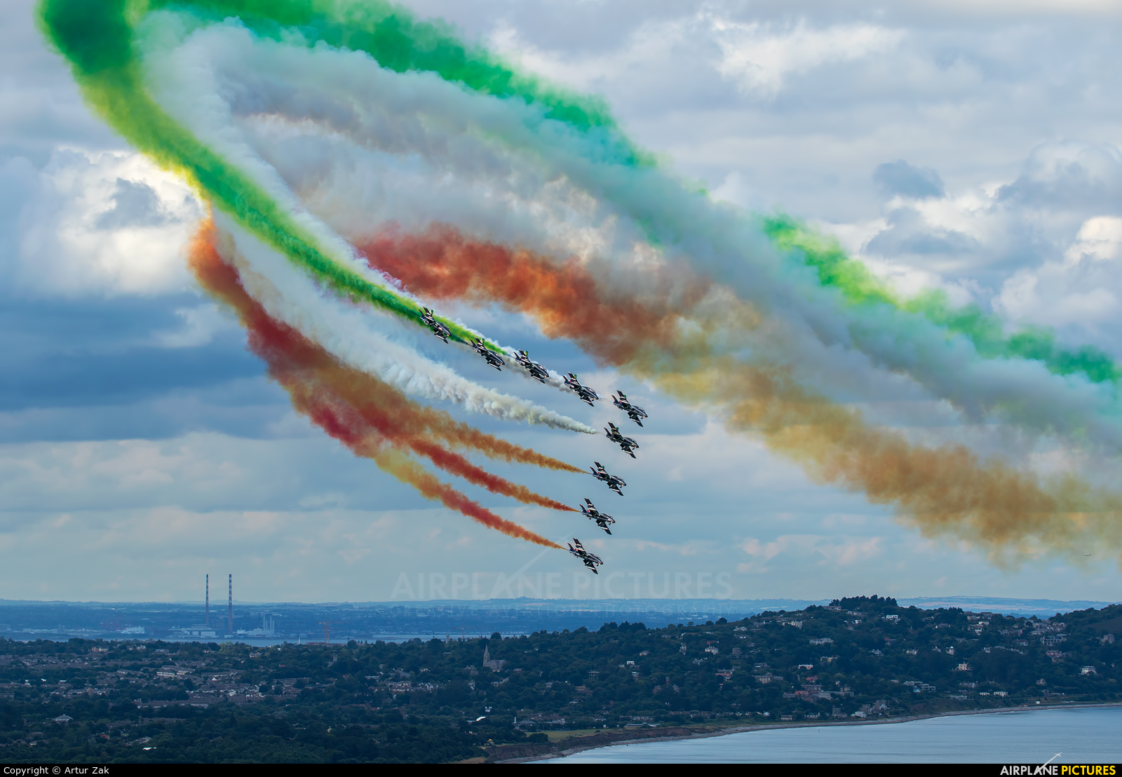 """Italy - Air Force """"Frecce Tricolori"""" - aircraft at Bray - Off Airport"""
