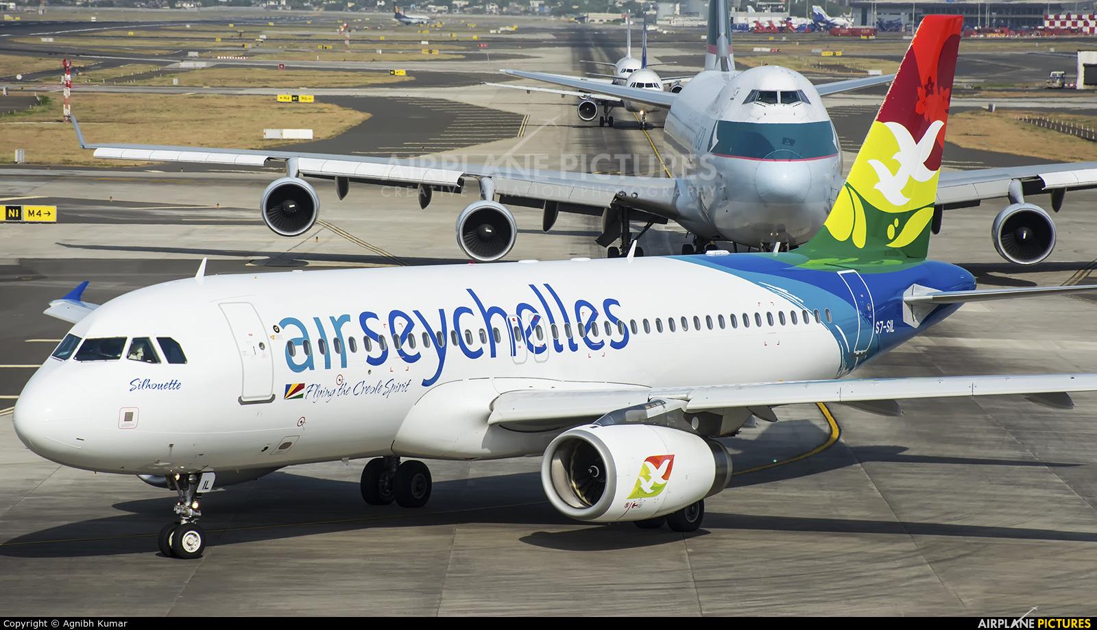 Air Seychelles S7-SIL aircraft at Mumbai - Chhatrapati Shivaji Intl