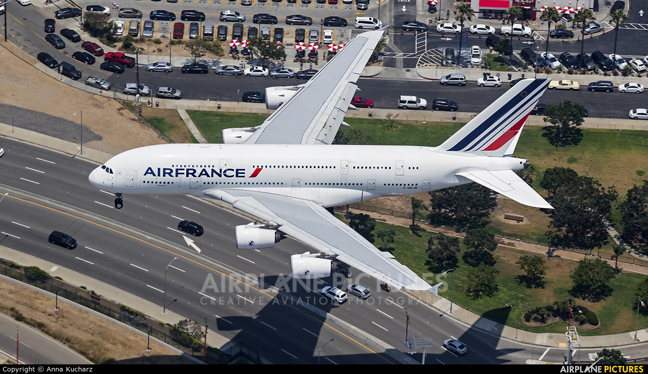 Air France F-HPJB aircraft at Los Angeles Intl