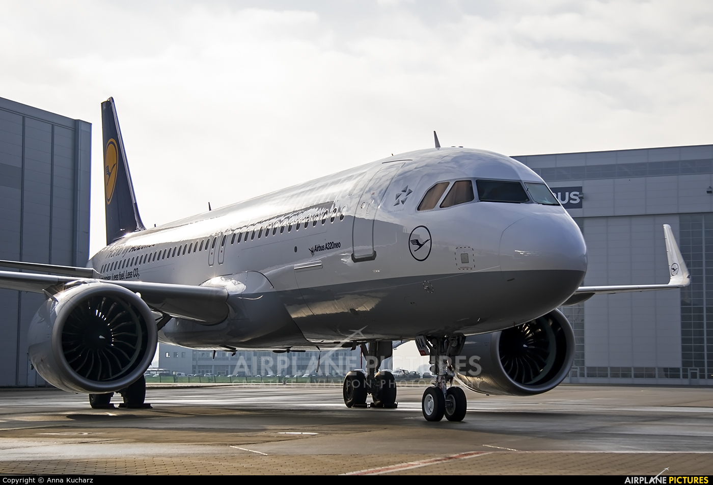 Lufthansa D-AINA aircraft at Hamburg - Finkenwerder