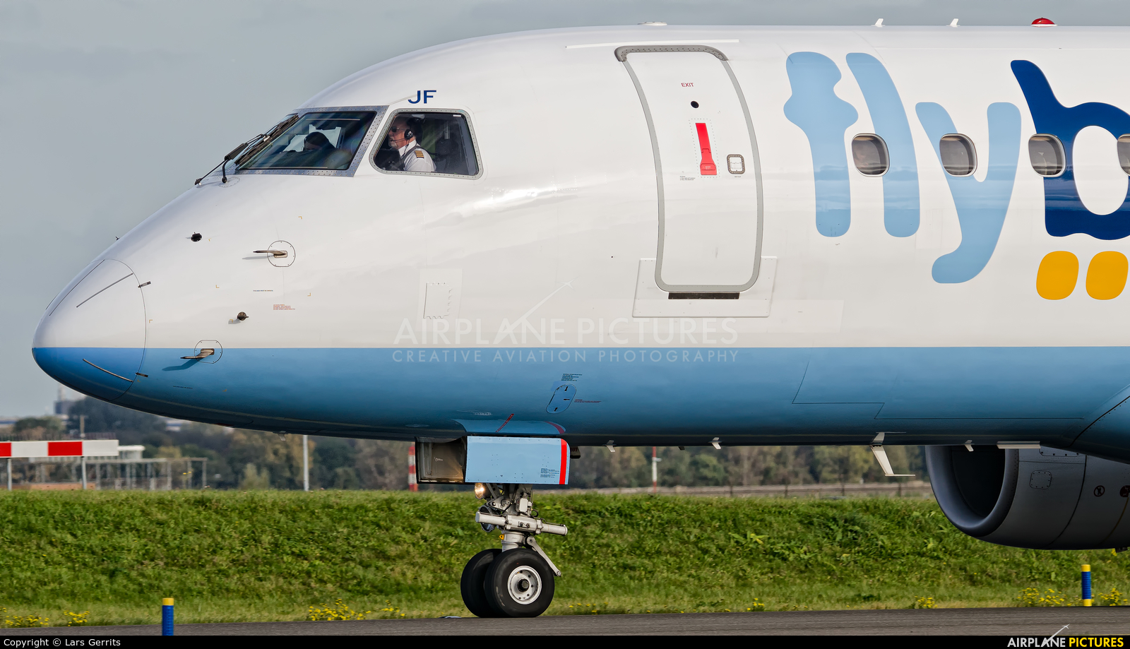 Flybe G-FBJF aircraft at Amsterdam - Schiphol