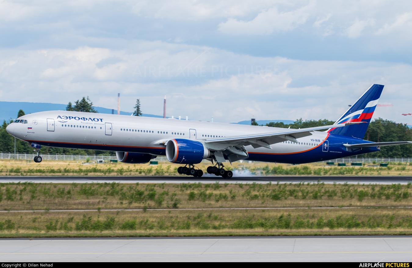 Aeroflot VQ-BUB aircraft at Frankfurt