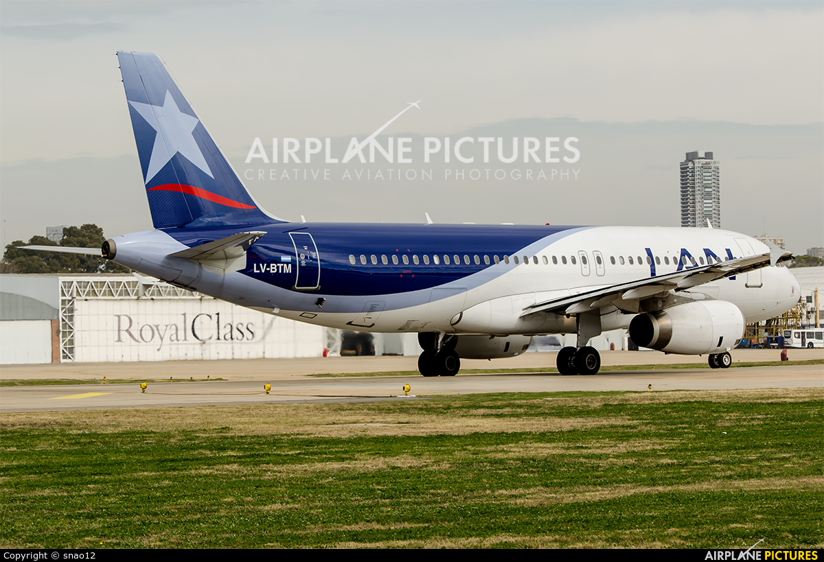 LAN Argentina LV-BTM aircraft at Buenos Aires - Jorge Newbery