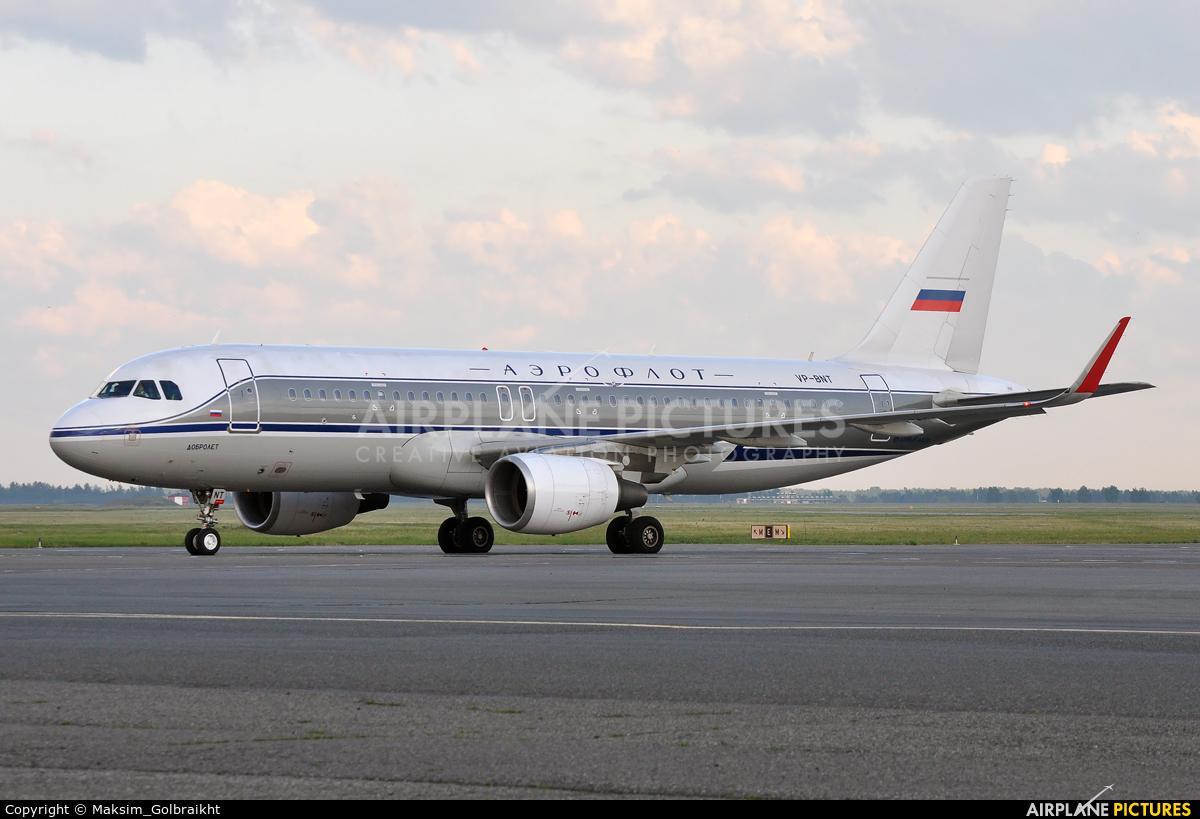 Aeroflot VP-BNT aircraft at Omsk Tsentralny