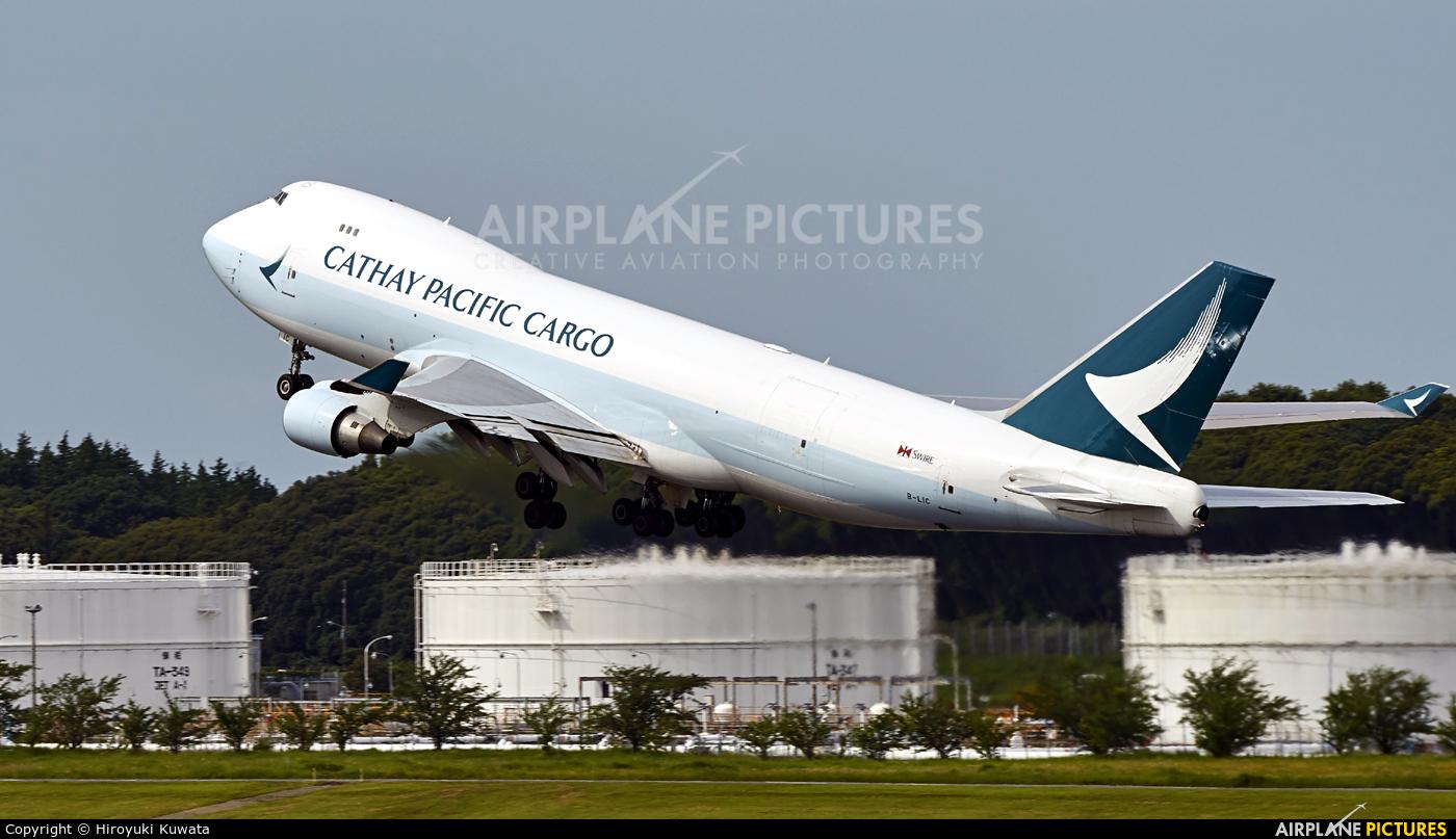 Cathay Pacific Cargo B-LIC aircraft at Tokyo - Narita Intl