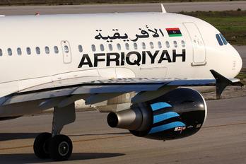 5A-OND - Afriqiyah Airways Airbus A319