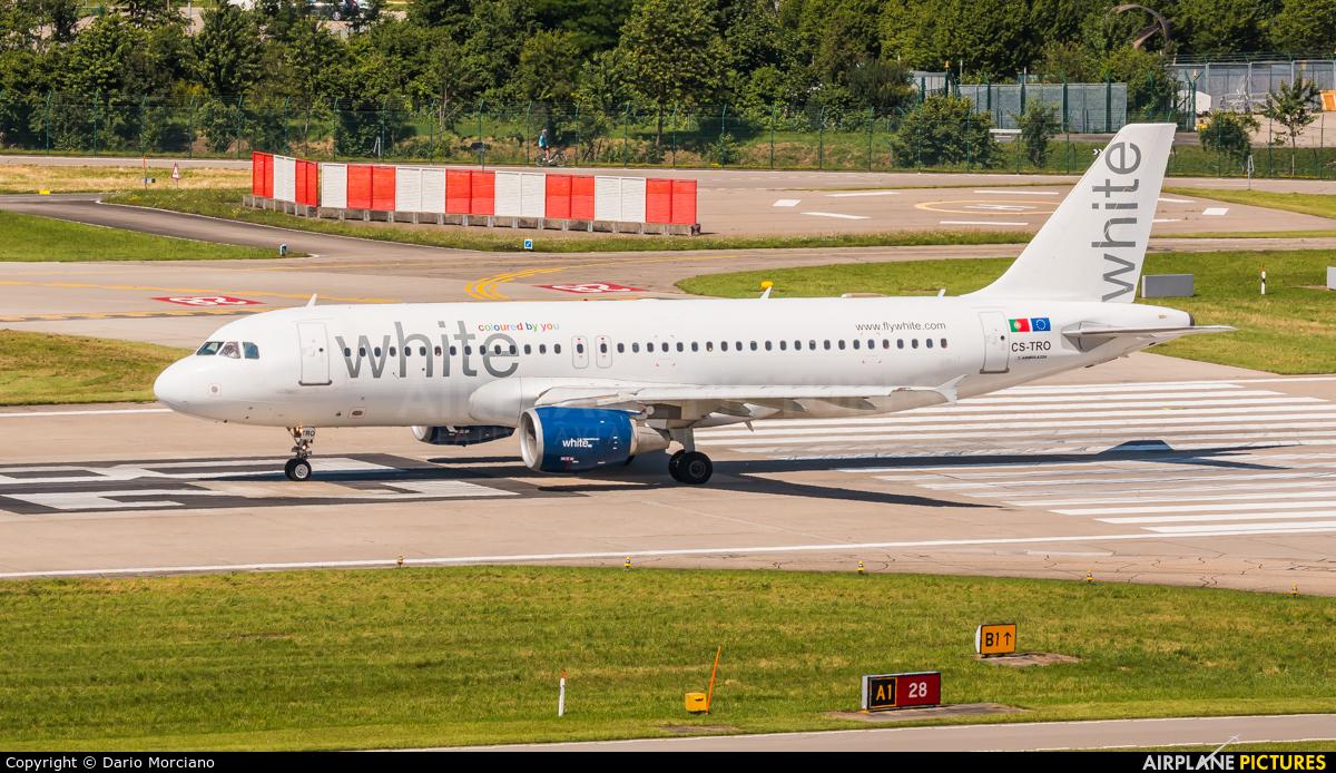 White Airways CS-TRO aircraft at Zurich