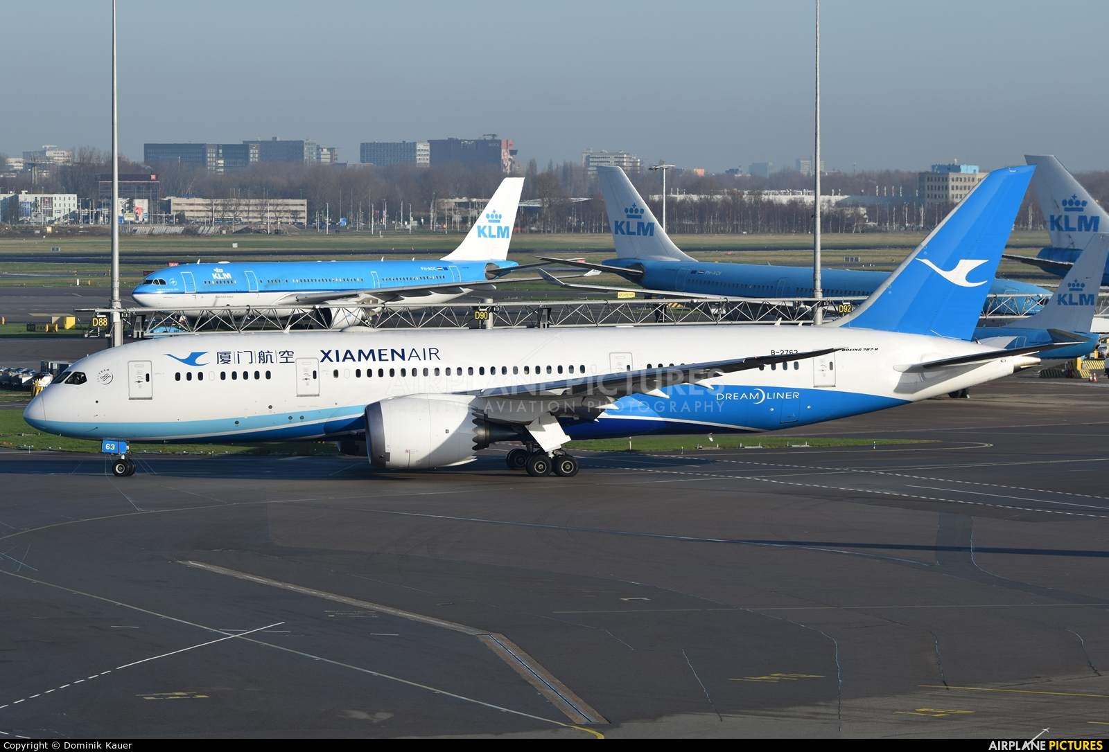 Xiamen Airlines B-2763 aircraft at Amsterdam - Schiphol