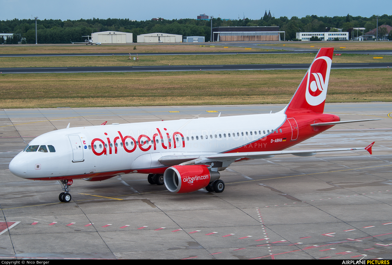 Air Berlin D-ABHA aircraft at Berlin - Tegel
