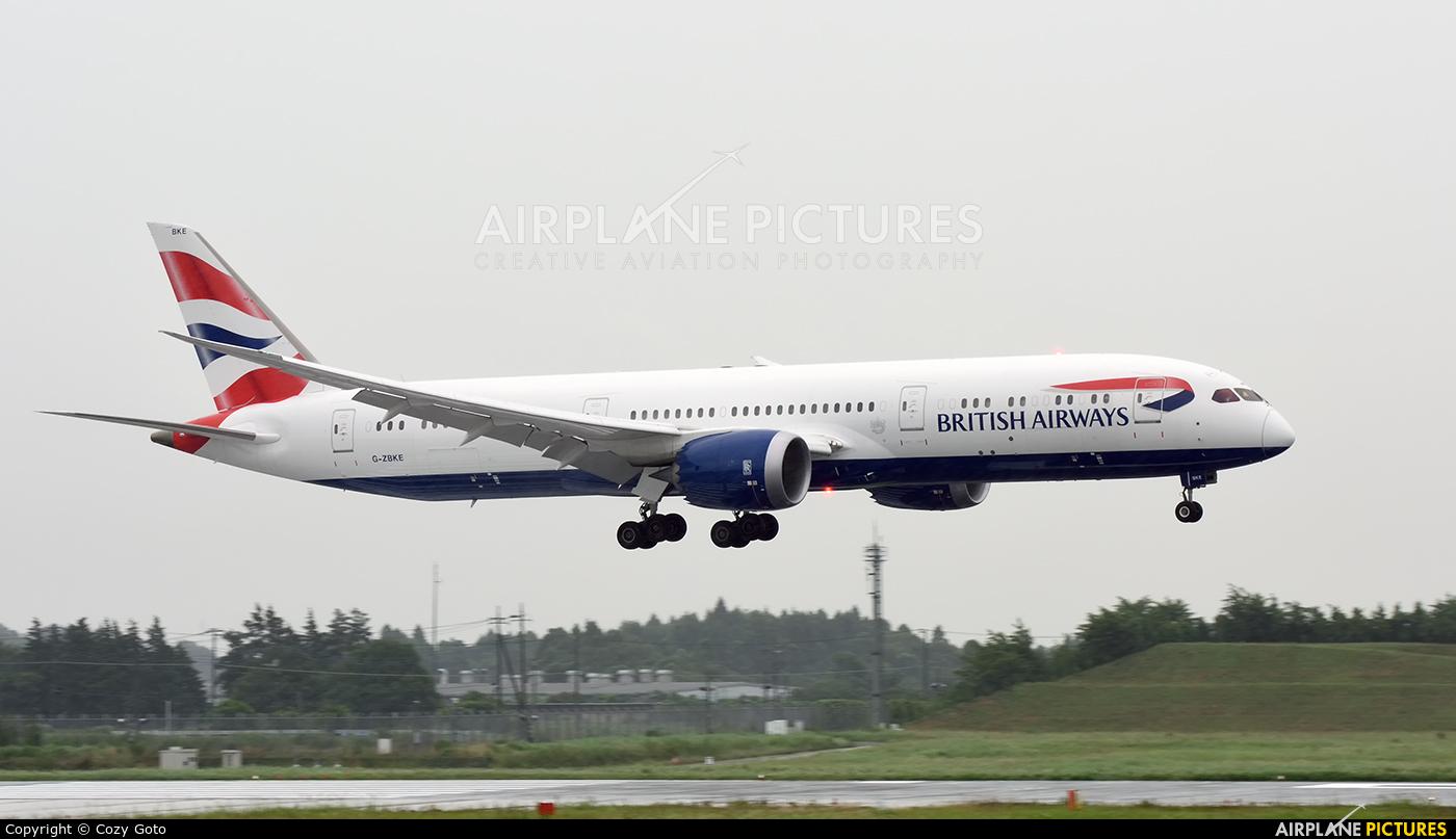 British Airways G-ZBKE aircraft at Tokyo - Narita Intl