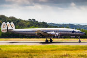 Rare visit of Super Constellation at Luxembourg - Findel title=