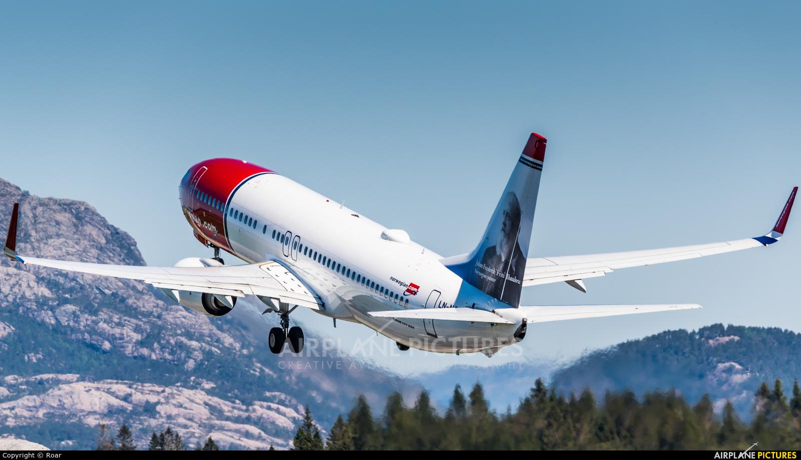 Norwegian Air Shuttle LN-NGL aircraft at Bergen - Flesland