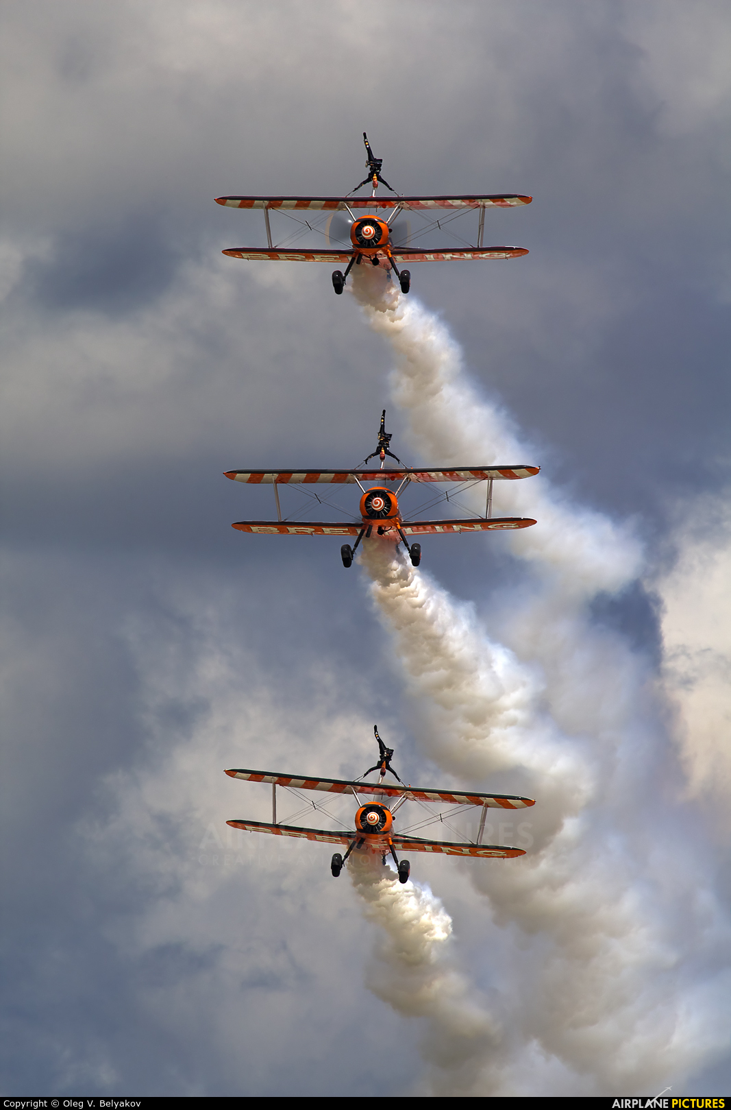 Breitling Wingwalkers N74189 aircraft at Fairford