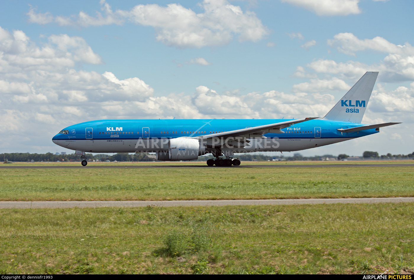 KLM Asia PH-BQF aircraft at Amsterdam - Schiphol
