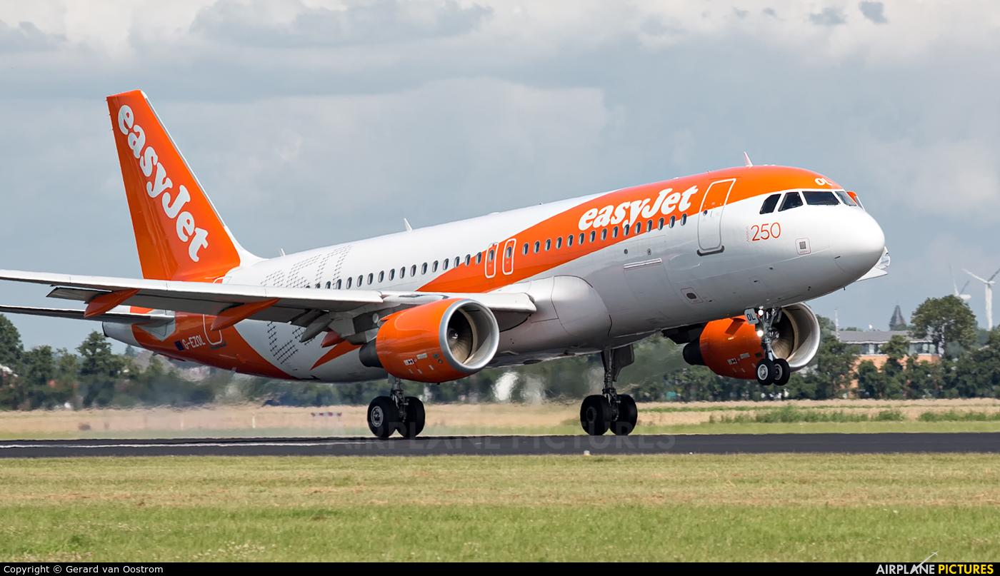 easyJet G-EZOL aircraft at Amsterdam - Schiphol