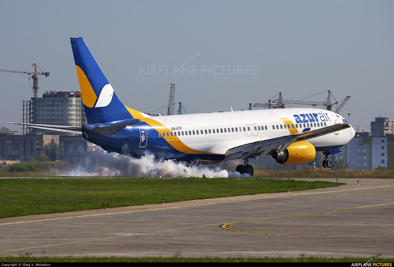 Azur Air Ukraine UR-UTP aircraft at Kharkov