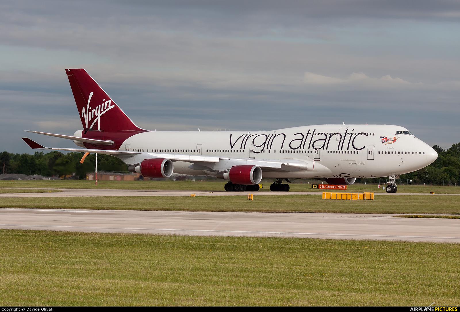Virgin Atlantic G-VROM aircraft at Manchester