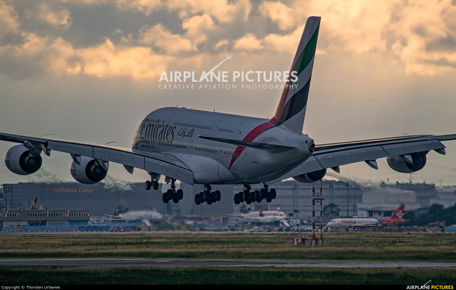 Emirates Airlines A6-EOU aircraft at Frankfurt