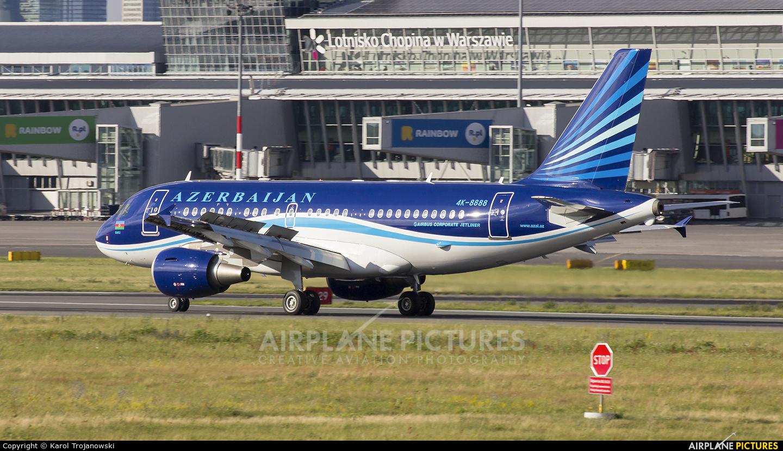 Azerbaijan - Government 4K-8888 aircraft at Warsaw - Frederic Chopin