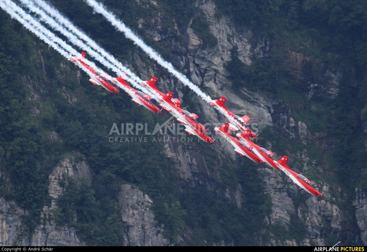 Switzerland - Air Force: PC-7 Team A-922 aircraft at Mollis