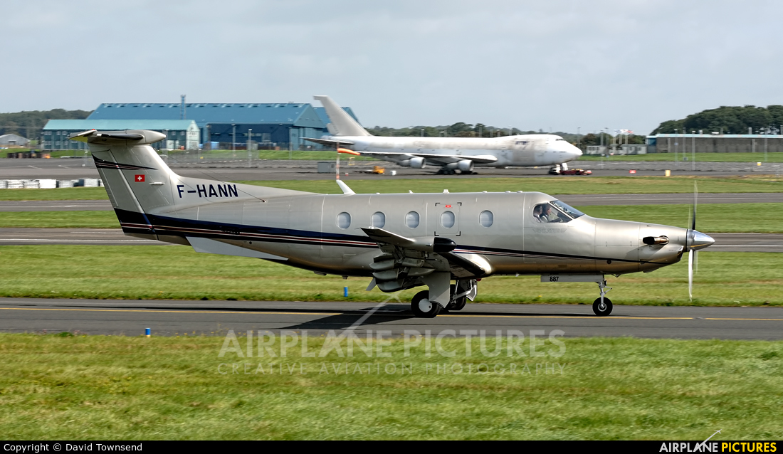 Private F-HANN aircraft at Prestwick