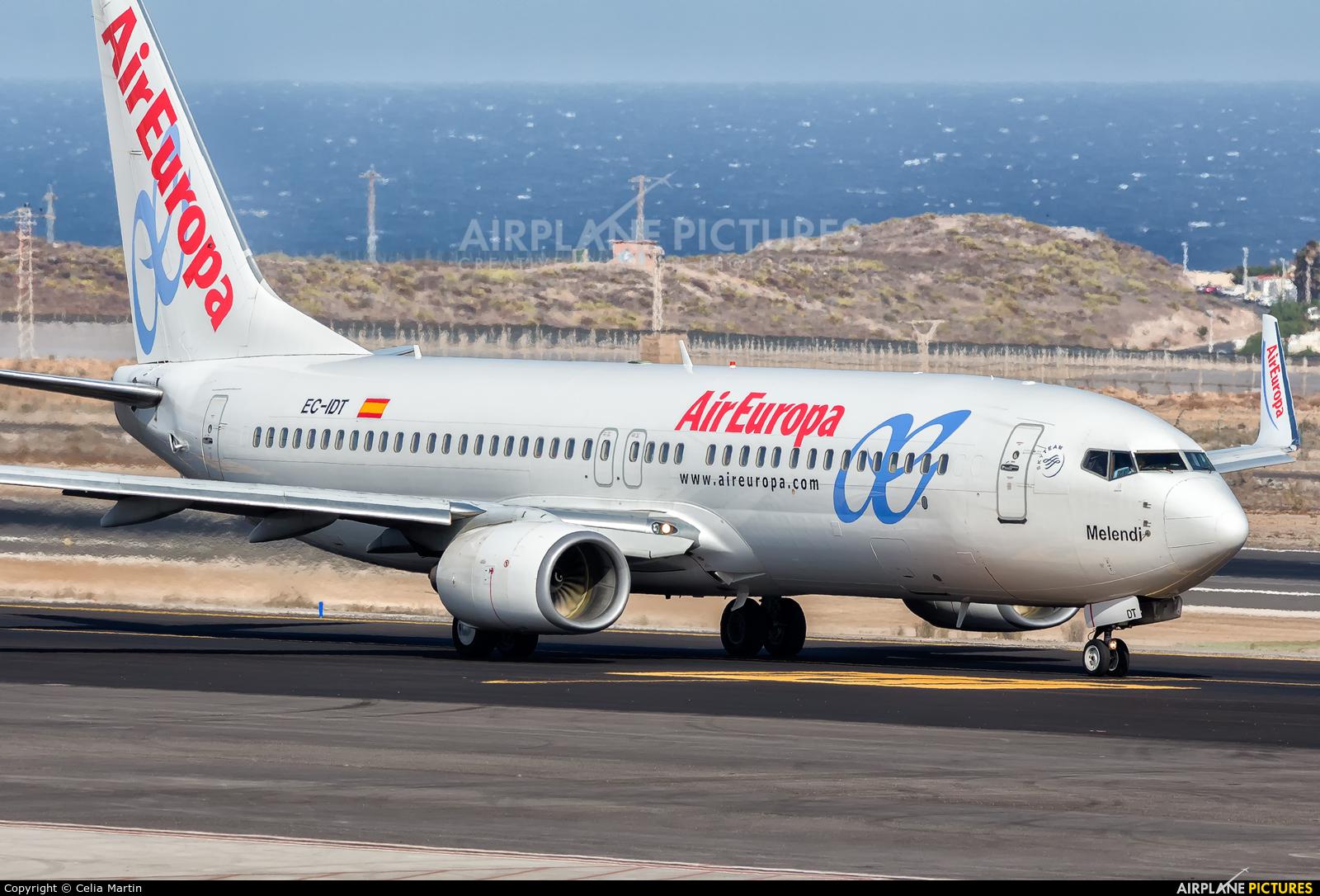 Air Europa EC-IDT aircraft at Tenerife Sur - Reina Sofia