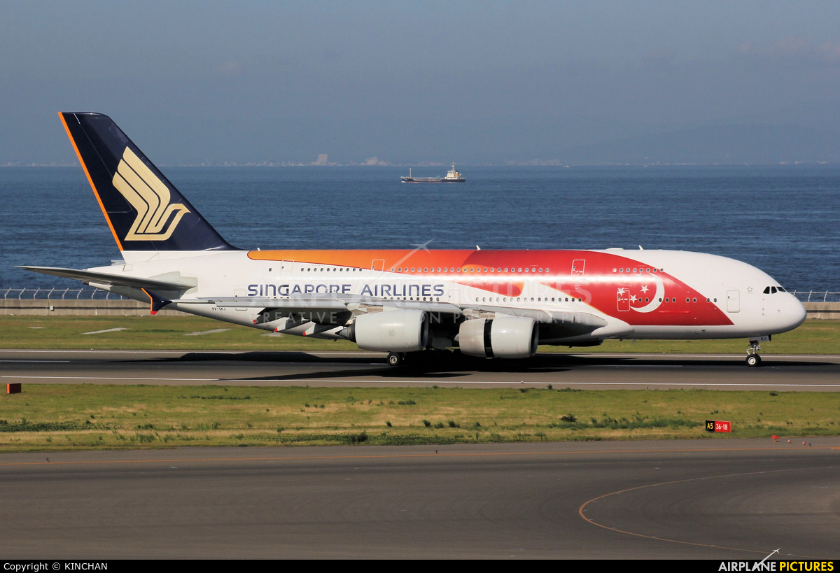 Singapore Airlines 9V-SKJ aircraft at Chubu Centrair Intl
