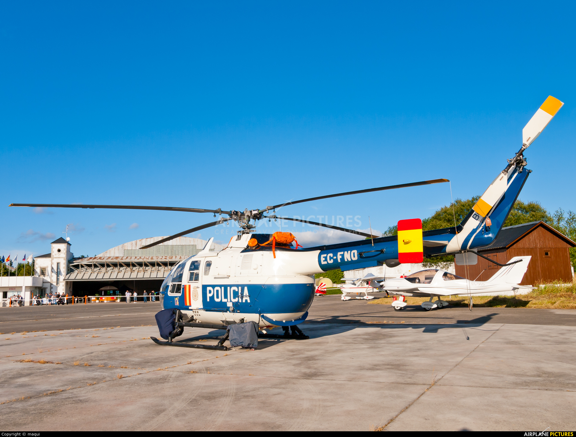 Spain - Police EC-FNO aircraft at Lugo - Rozas