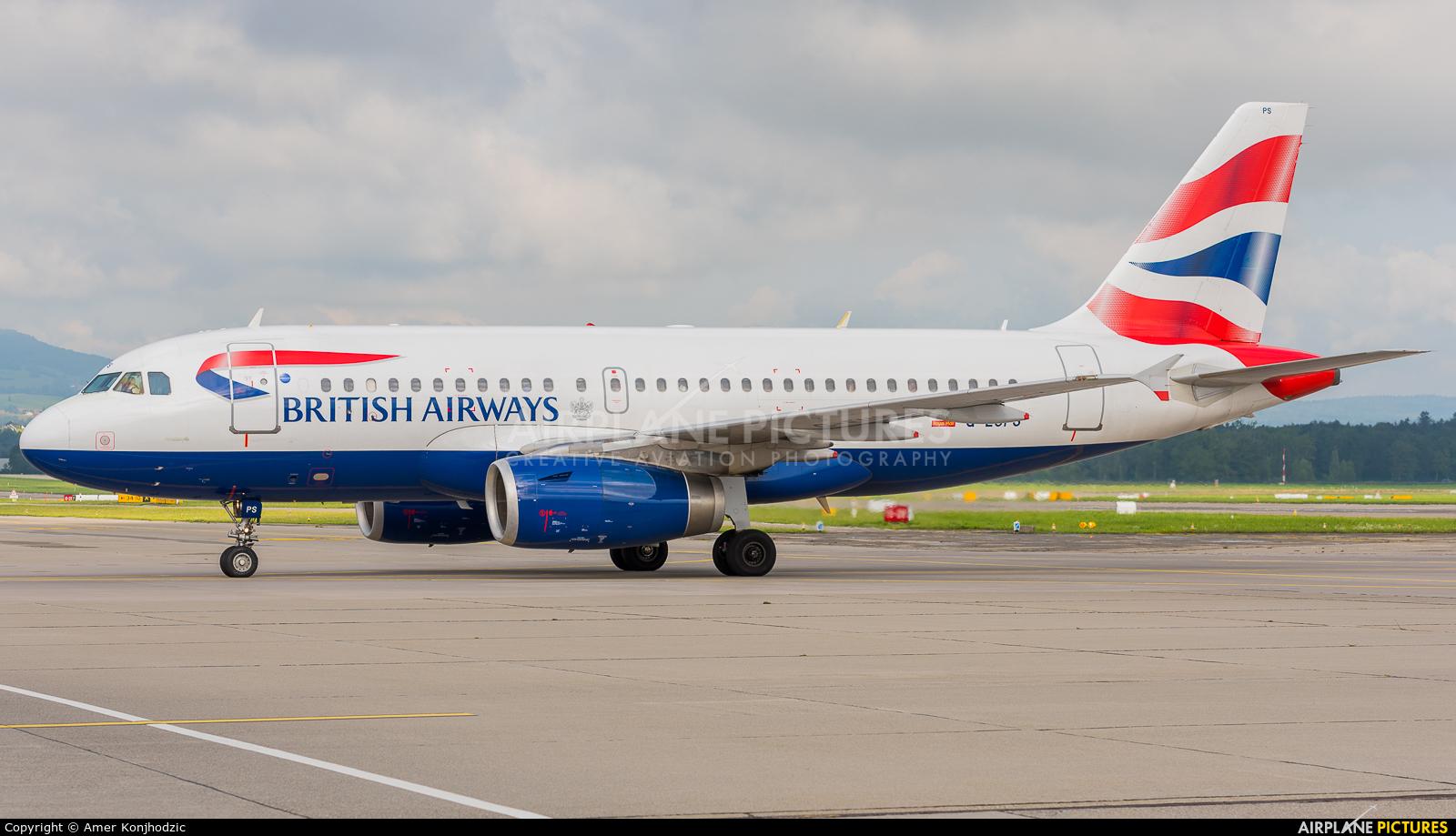 British Airways G-EUPS aircraft at Zurich