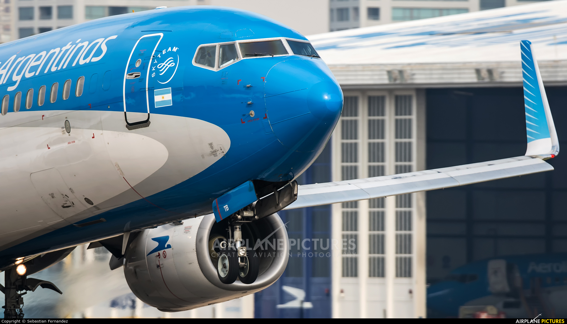 Aerolineas Argentinas LV-CTB aircraft at Buenos Aires - Jorge Newbery