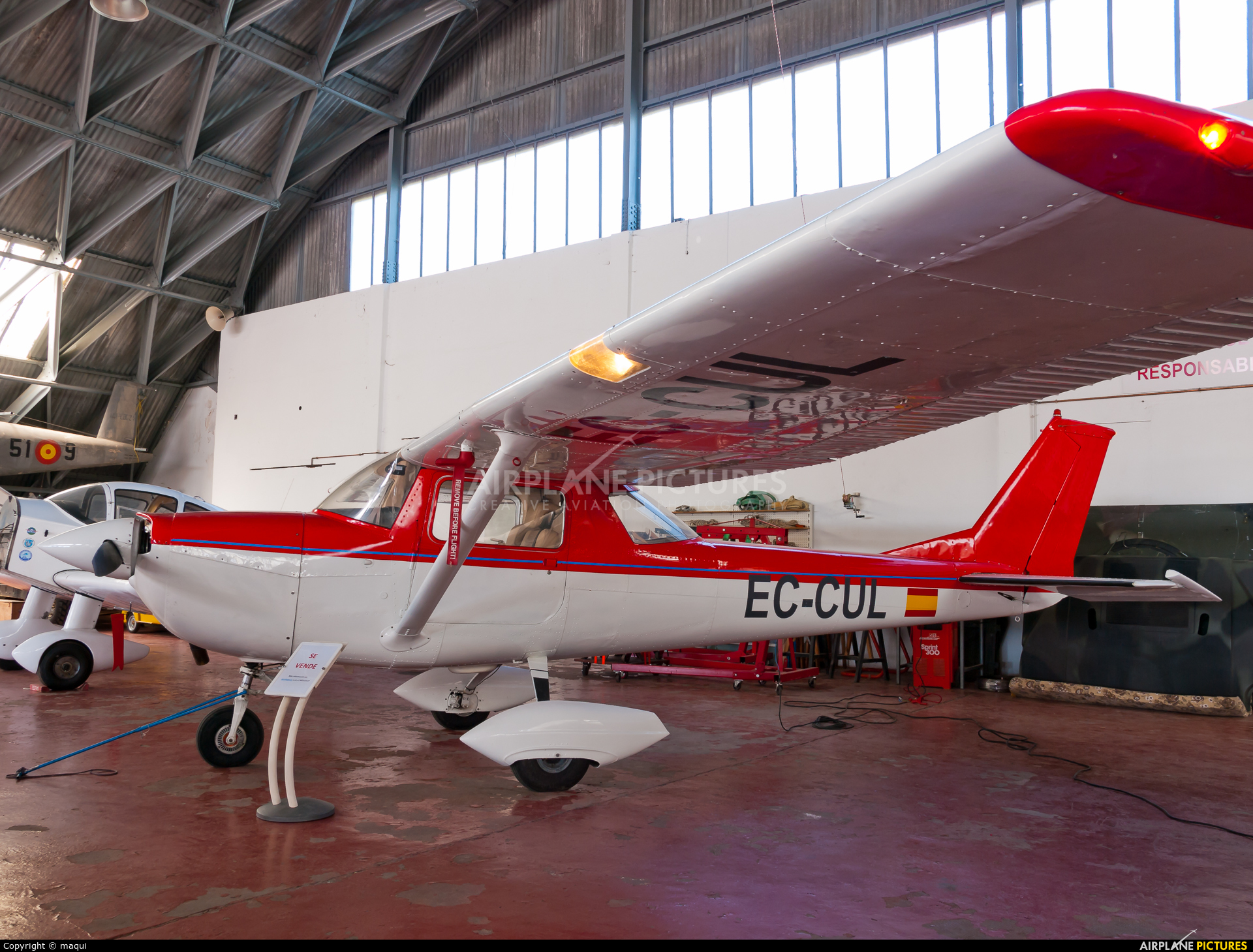 Private EC-CUL aircraft at Lugo - Rozas