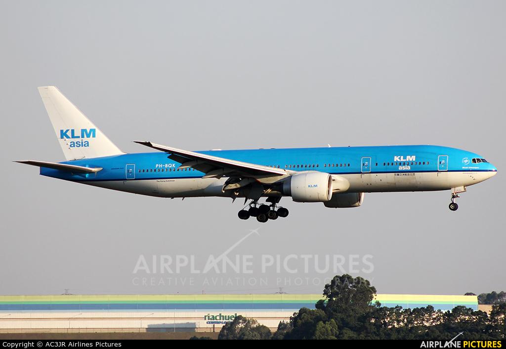 KLM Asia PH-BQK aircraft at São Paulo - Guarulhos
