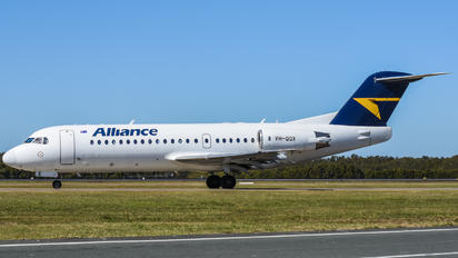VH-QQX - Alliance Air Fokker 100
