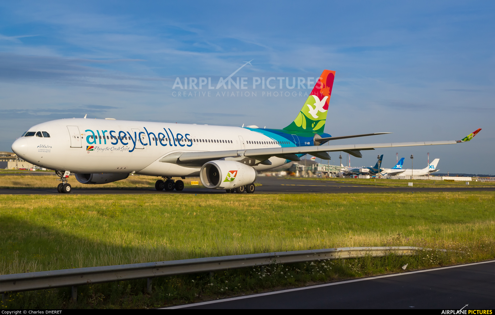 Air Seychelles S7-ADB aircraft at Paris - Charles de Gaulle