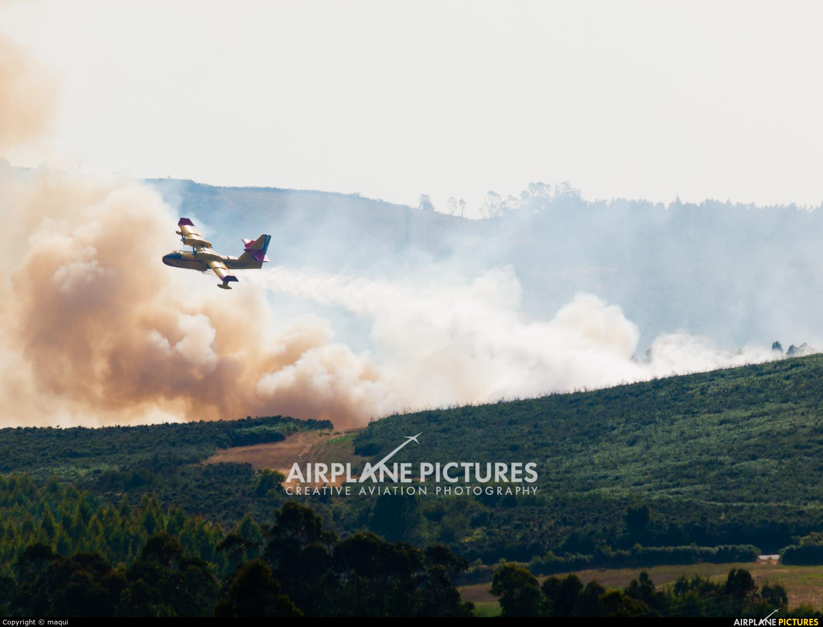 Spain - Air Force UD.13-21 aircraft at La Coruña - Off Airport