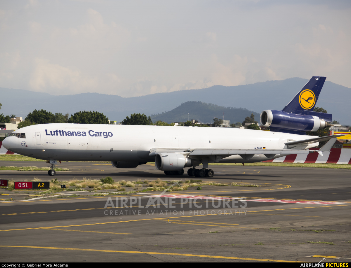 Lufthansa Cargo D-ALCB aircraft at Mexico City - Licenciado Benito Juarez Intl