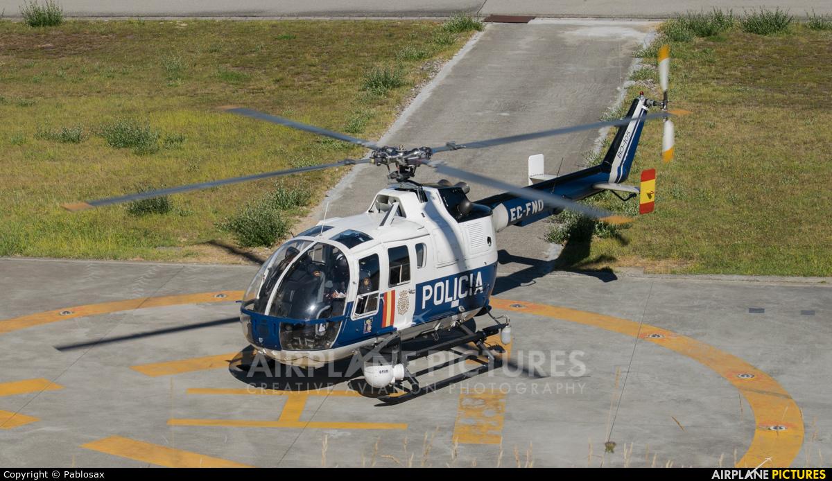 Spain - Police EC-FNO aircraft at Vigo