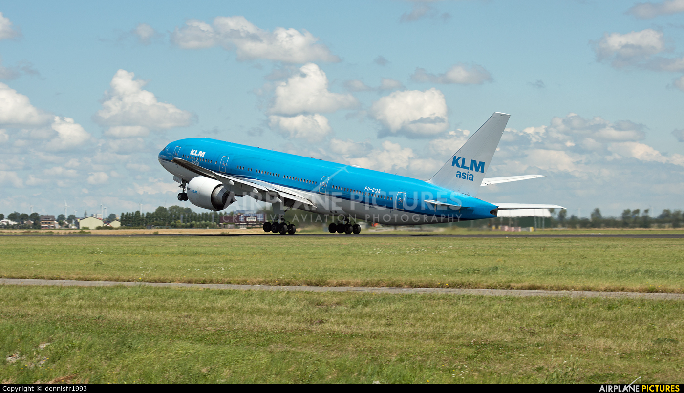 KLM Asia PH-BQK aircraft at Amsterdam - Schiphol
