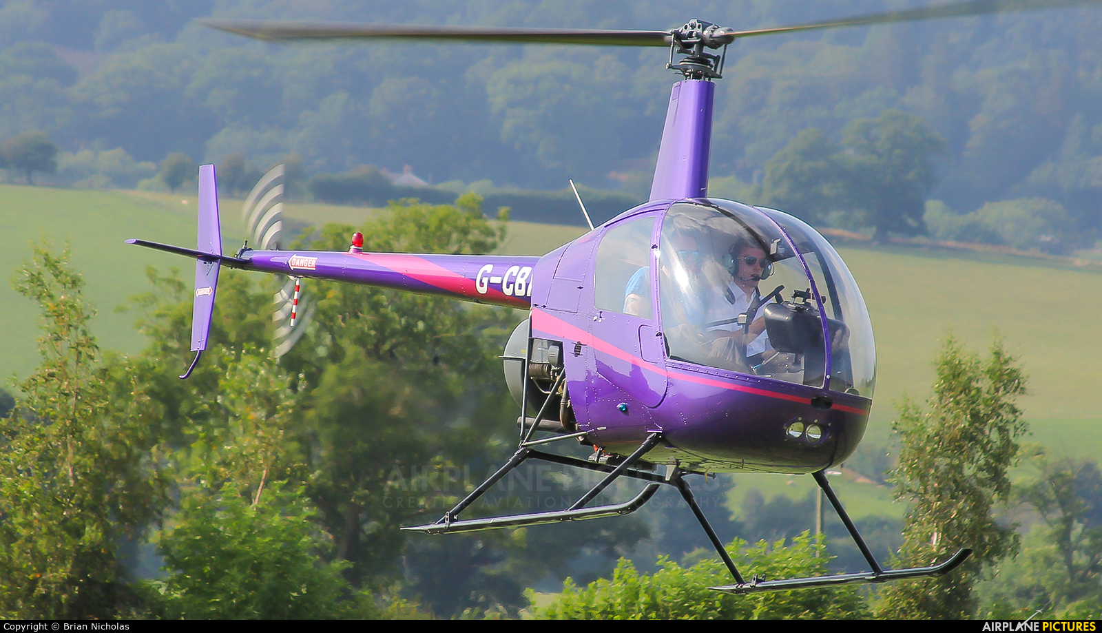 Whizzard Helicopters G-CBXK aircraft at Welshpool