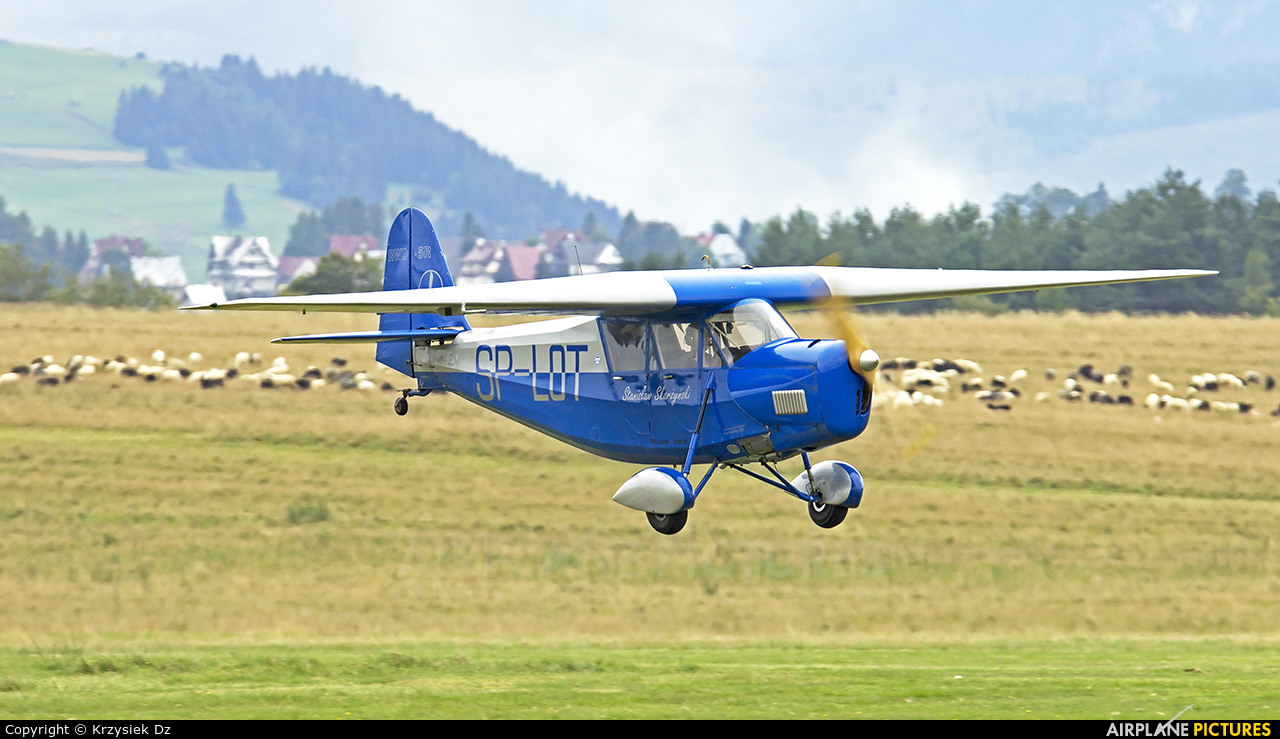 Private SP-LOT aircraft at Nowy Targ