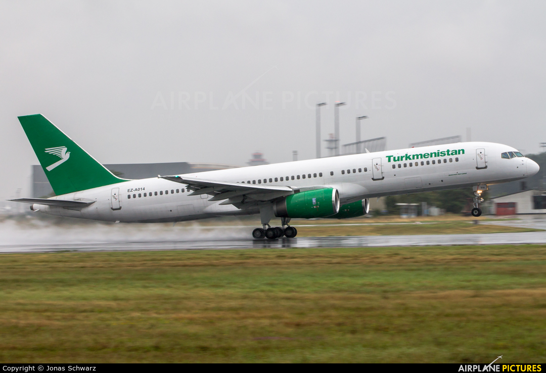 Turkmenistan Airlines EZ-A014 aircraft at Frankfurt