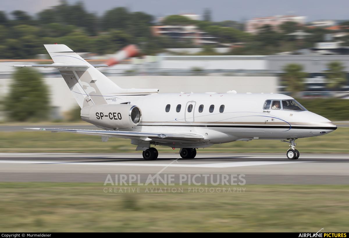 Blue Jet SP-CEO aircraft at Cannes - Mandelieu