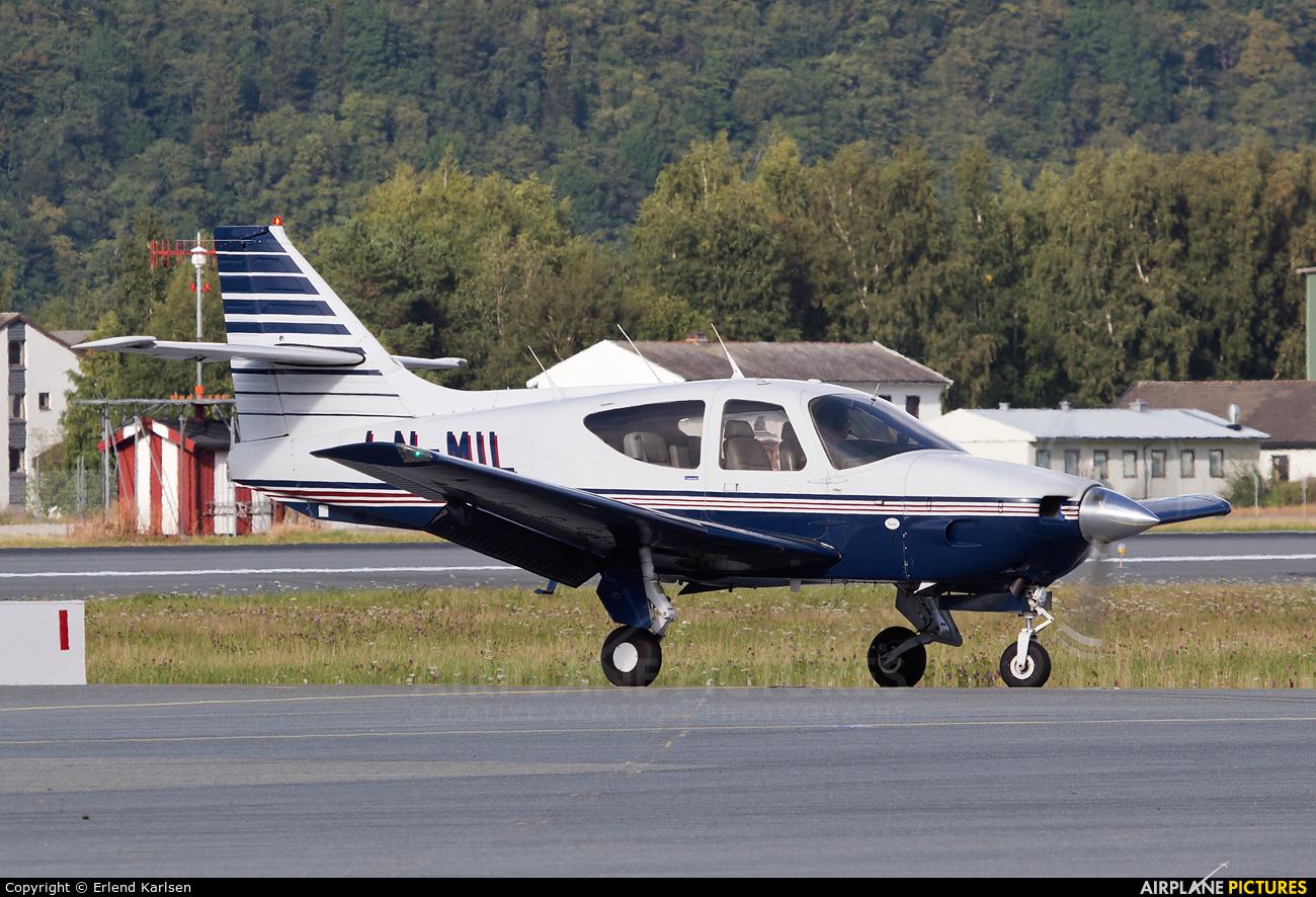 Private LN-MIL aircraft at Trondheim - Vaernes
