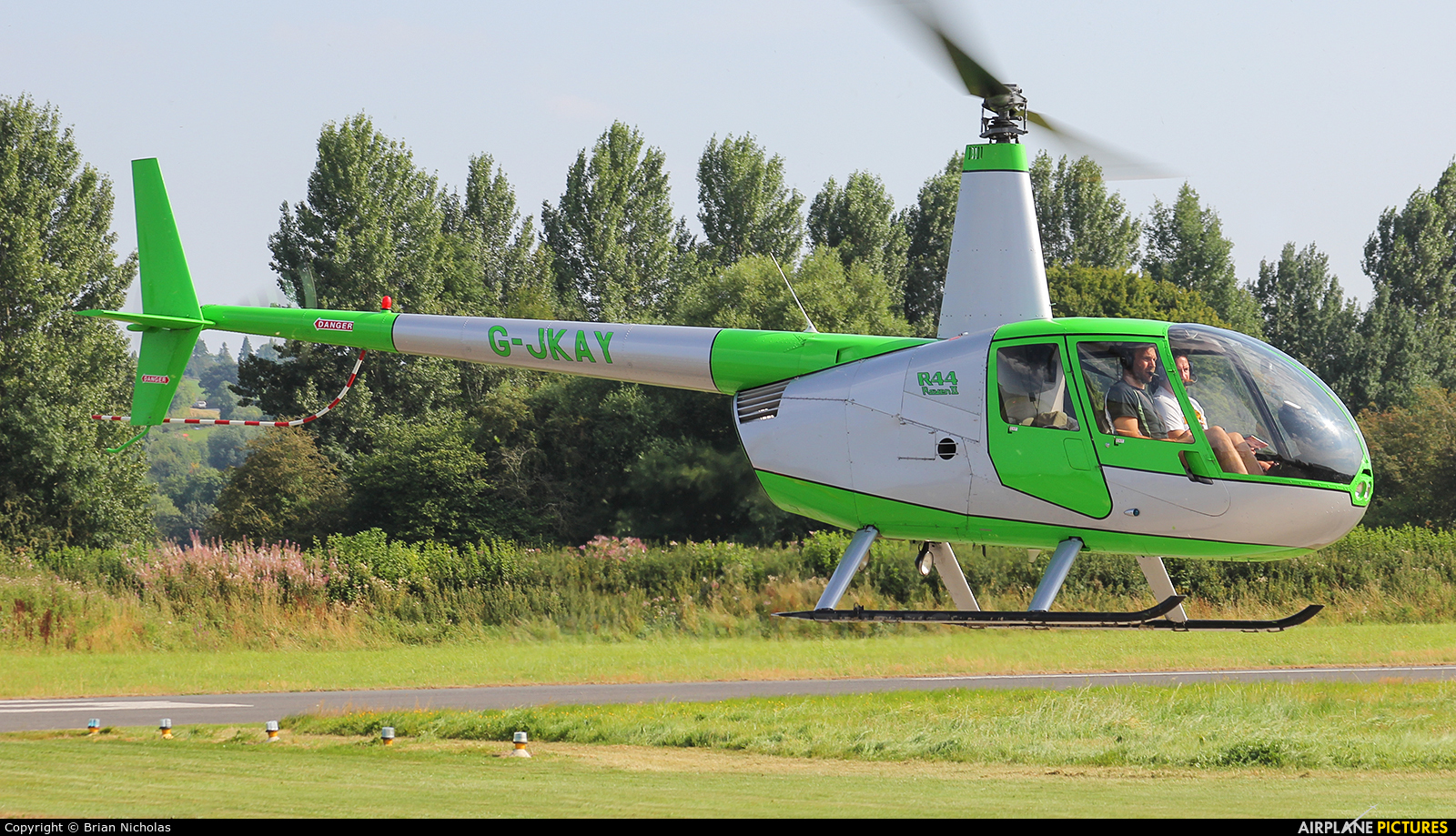 Private G-JKAY aircraft at Welshpool