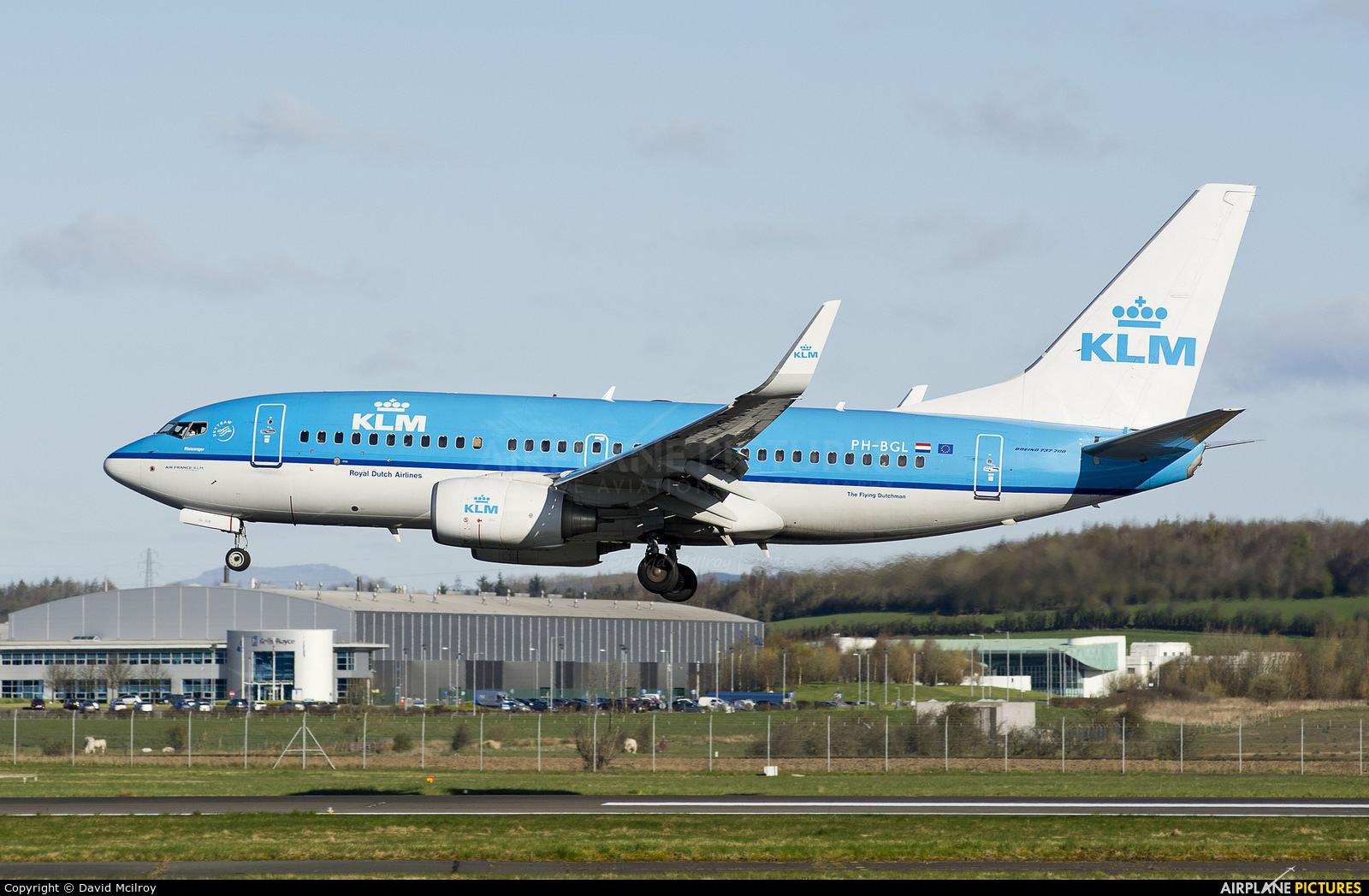KLM PH-BGL aircraft at Glasgow