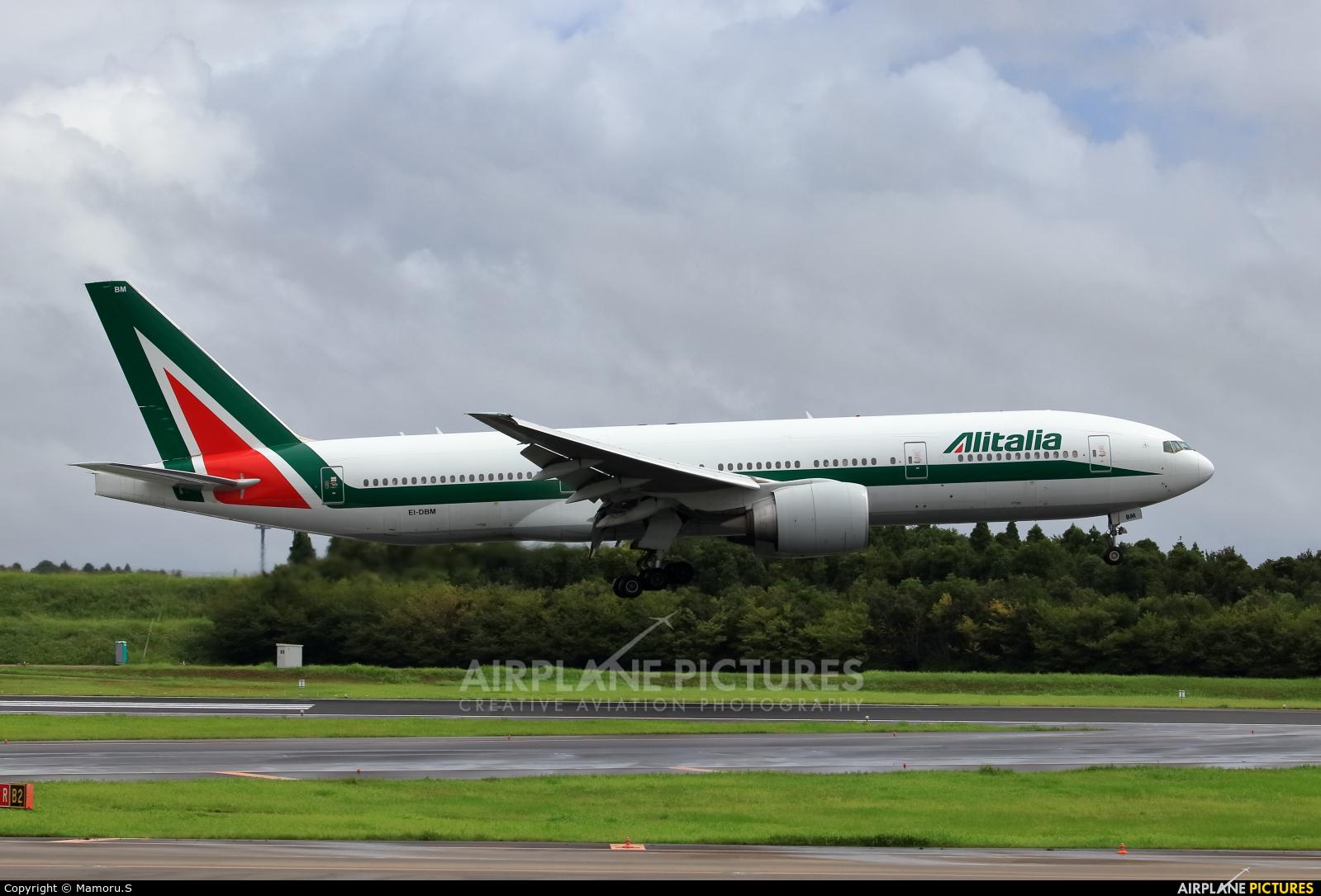 Alitalia EI-DBM aircraft at Tokyo - Narita Intl
